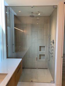 Open concept shower