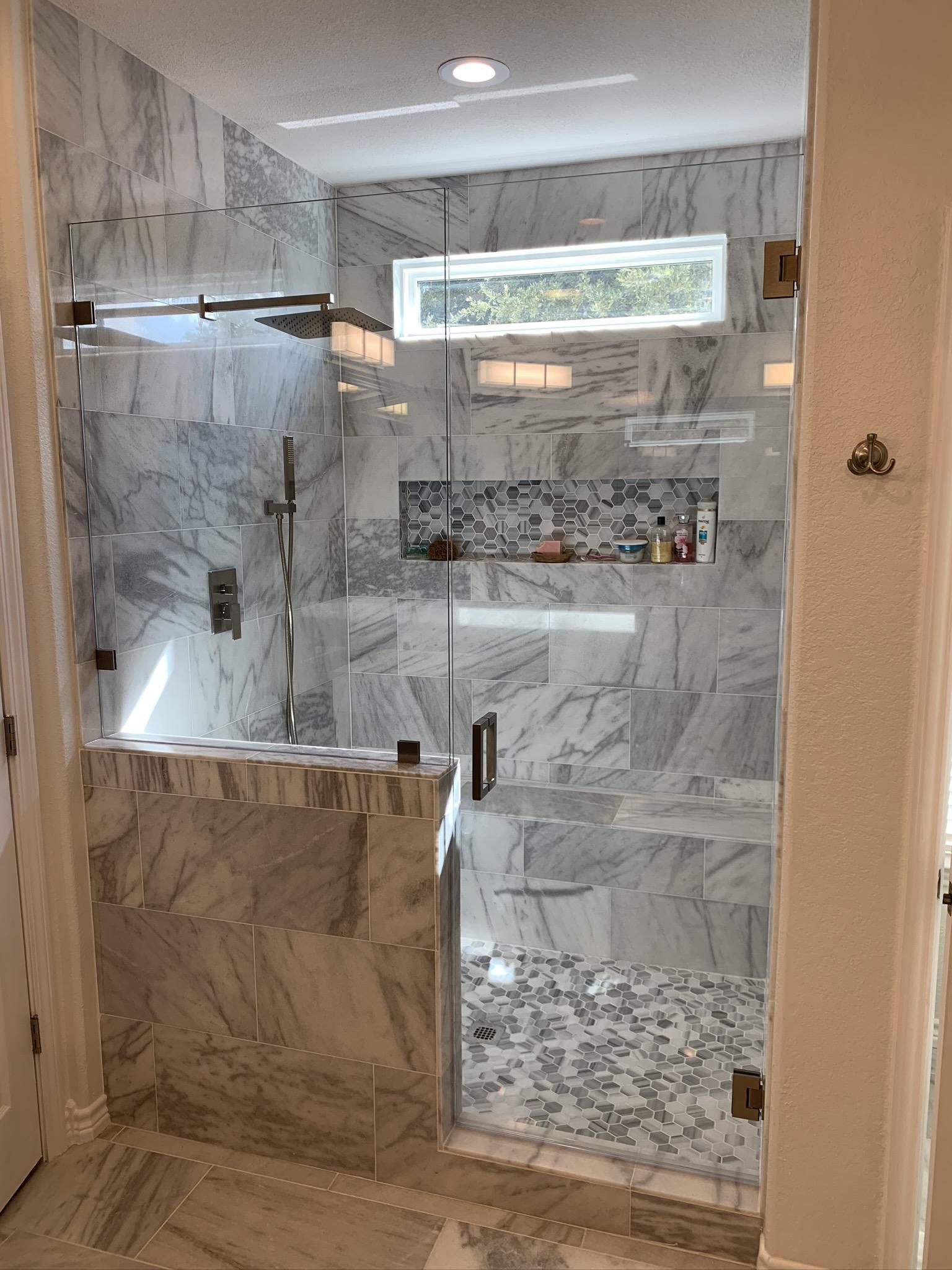 low iron shower enclosure