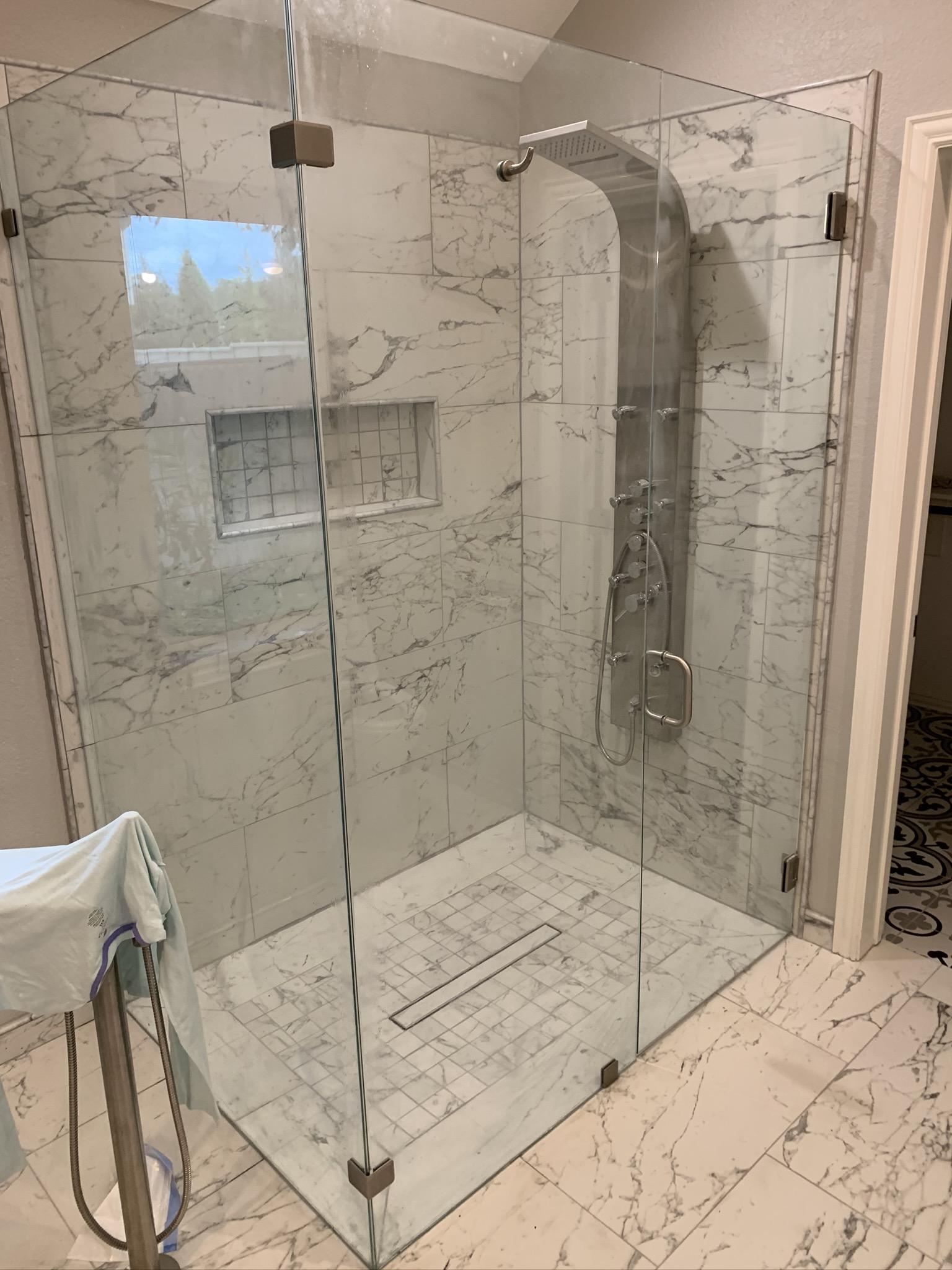 Low Iron Frameless Glass Shower
