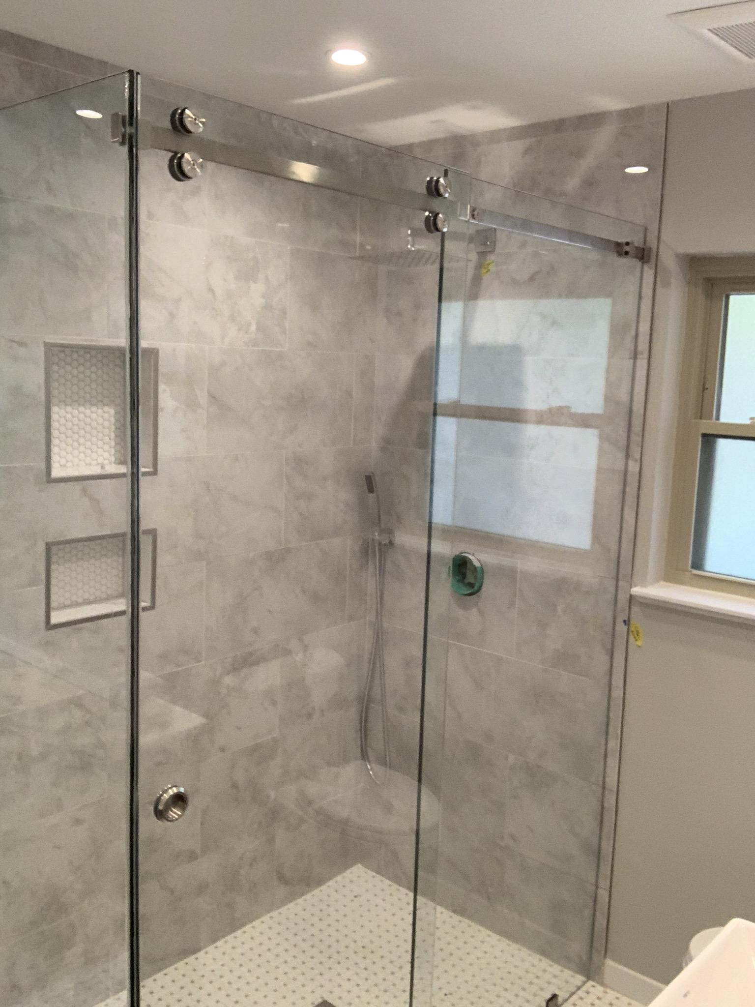 Barn Door Shower Enclosure